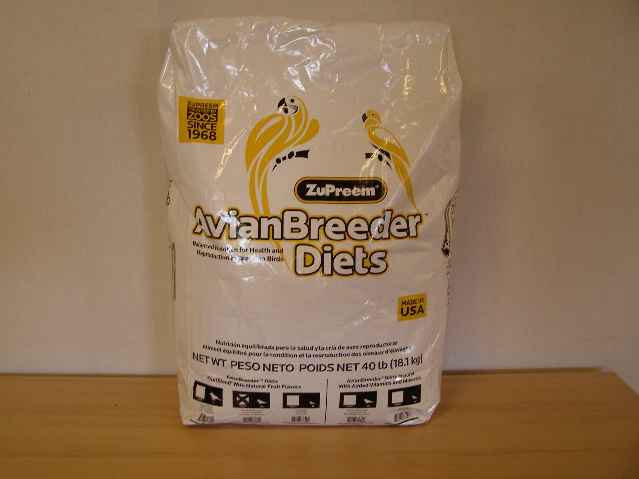 Premium Nutritional Products Granule ZuPreem AvianBreeder Natural M/L 18,14 kg - do 5 dnů na dotaz