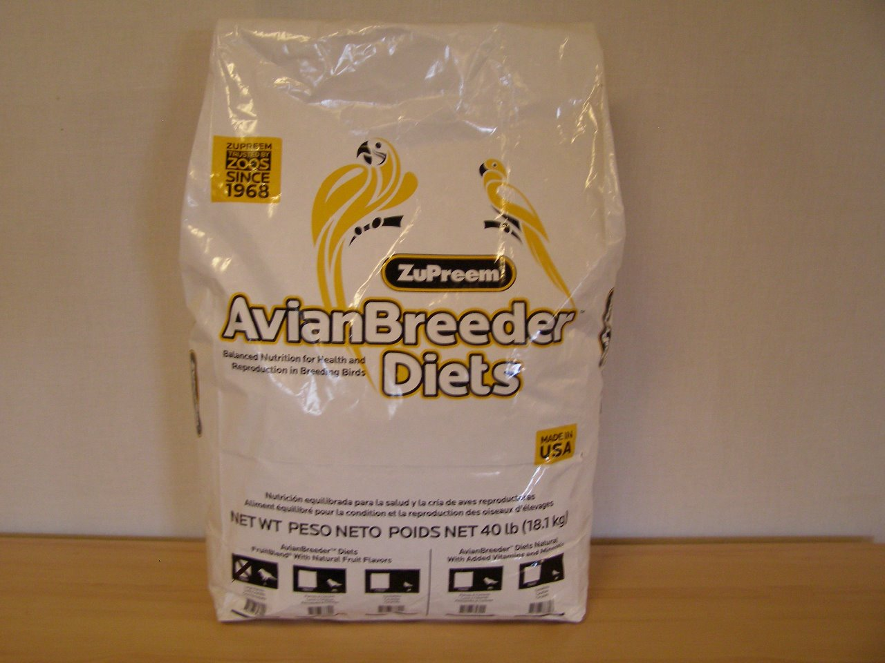Premium Nutritional Products Granule ZuPreem AvianBreeder Fruit Blend L 18,14 kg