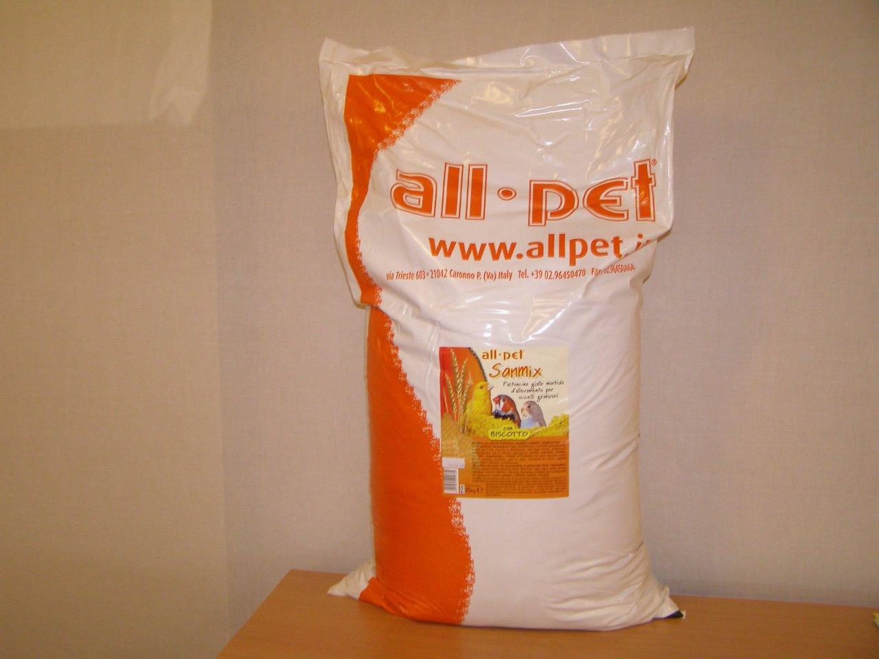 All pet.s.r.l., Itálie All pet Sanmix vaječné krmivo vlhké pro všechny zrnožravé ptáky 25 kg