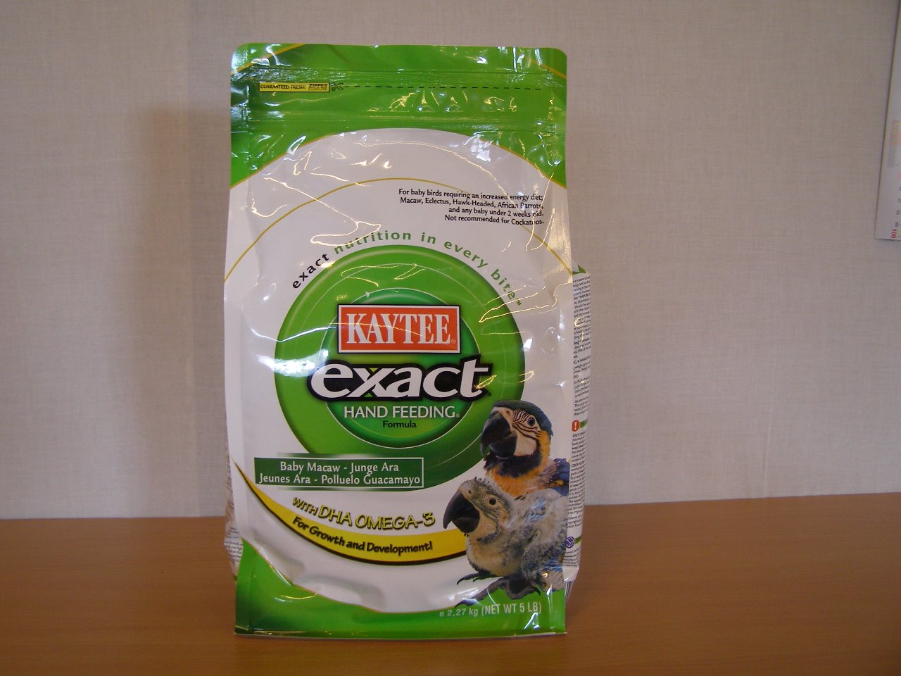Kaytee Products Dokrmovací směs Exact Hand Feeding Macaw s DHA 2,27 kg
