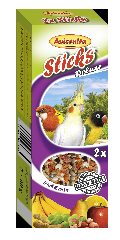 Avicentra s.r.o. Tyčinky pro malé a střední papoušky - ovoce a ořech 2 ks