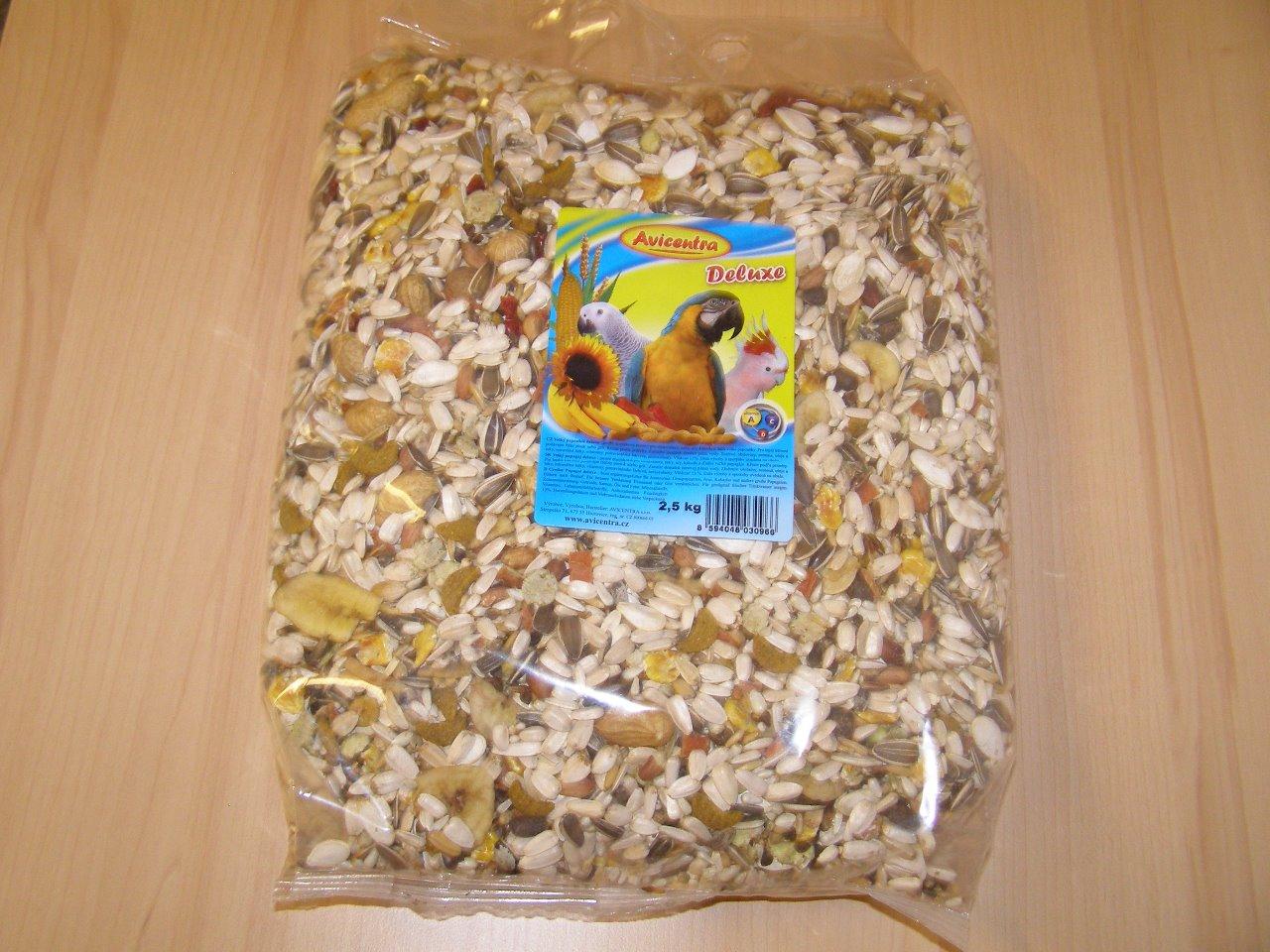 Avicentra s.r.o. Velký papoušek delux 2,5 kg