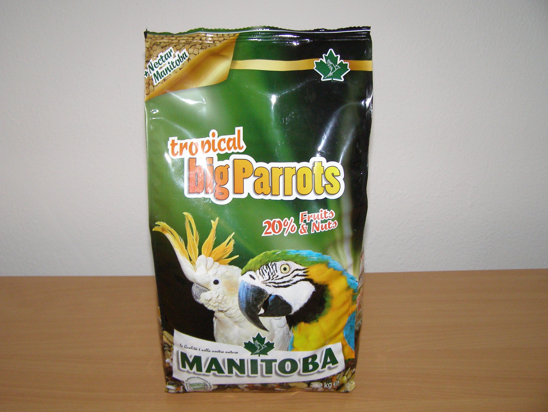 Manitoba Tropical Big Parrots 2 kg pro velké papoušky