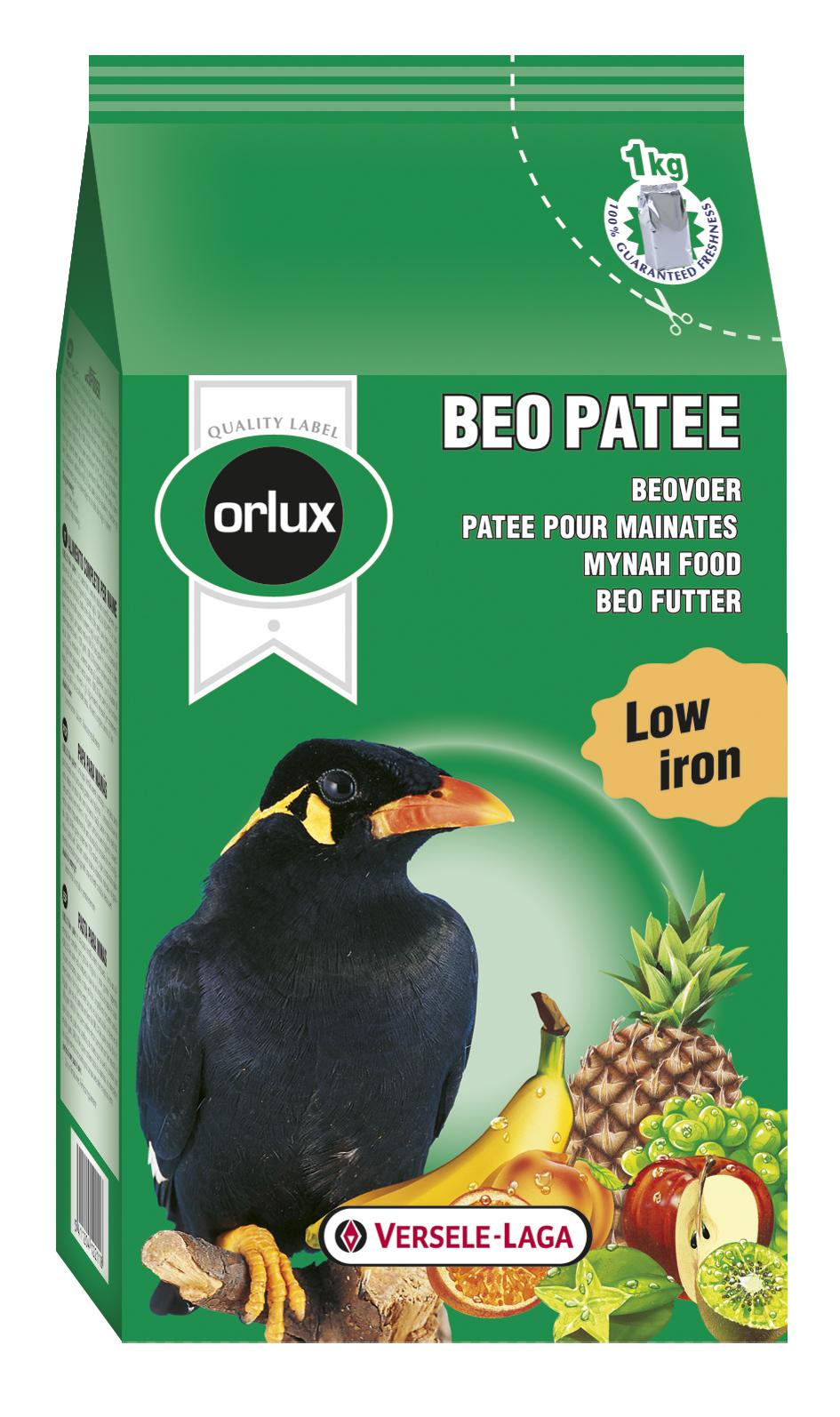 ORLUX BEO PATEE 1 kg kompletní krmivo pro loskutáky a plodožravé ptáky