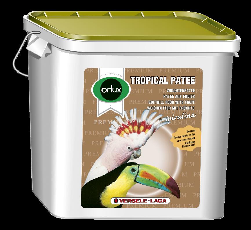 ORLUX TROPICAL PATEE PREMIUM 5 kg kompletní krmivo s medem a čerstvým ovocem
