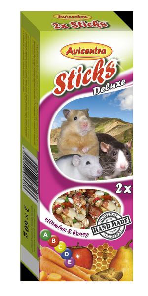 Avicentra s.r.o. Tyčinky s vitamíny a medem pro křečky, potkany a myši 2 ks