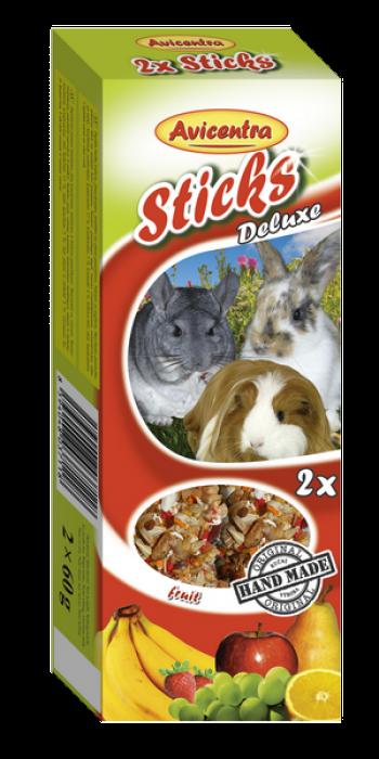 Avicentra s.r.o. Tyčinky s ovocem pro králíky, morčata a činčily 2 ks