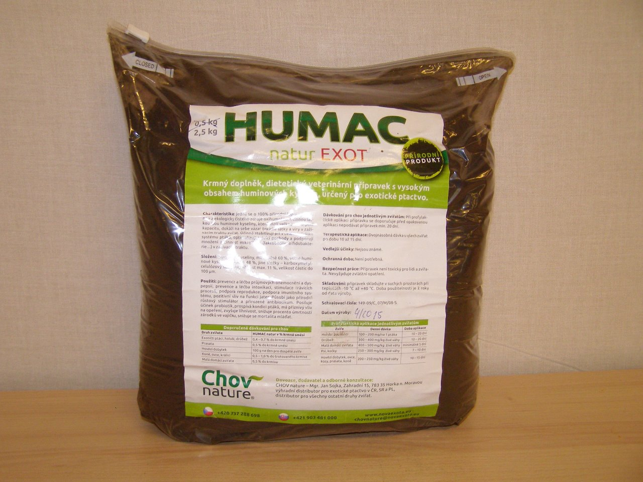 Chov nature Humac natur Exot 2,5 kg