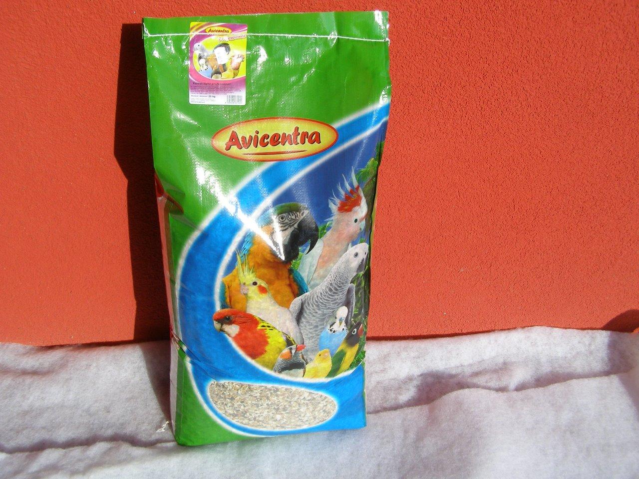 Avicentra s.r.o. Velký papoušek speciál light 25 kg pro amazoňany atd.