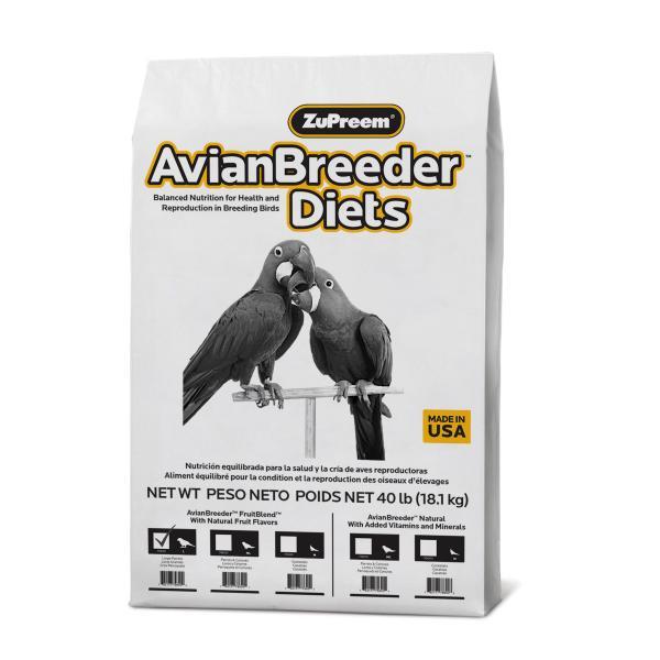Premium Nutritional Products Granule ZuPreem AvianBreeder Fruit Blend L 18,14 kg