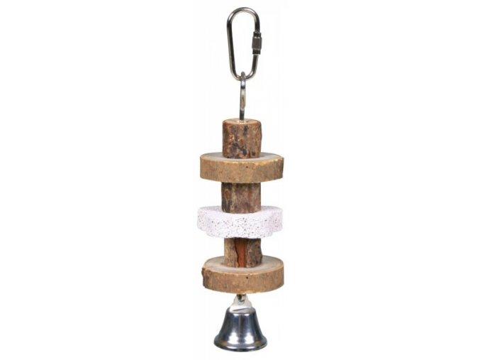 Trixie Natural Living-dřevěná kolečka, lávový kámen pro ptáky 16 cm