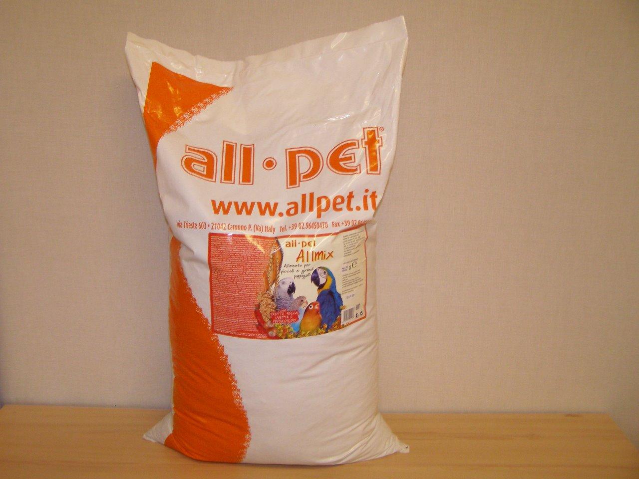 All pet.s.r.l., Itálie All pet Allmix vaječno-ovocná směs s ořechy a čili papričkami 25 kg
