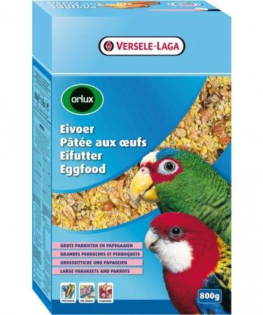 ORLUX EGGFOOD vaječné krmivo suché pro střední a velké papoušky se sušeným hmyzem a ovocem 800 g