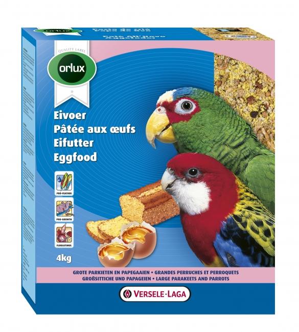 ORLUX EGGFOOD vaječné krmivo suché pro střední a velké papoušky se sušeným hmyzem a ovocem 4 kg