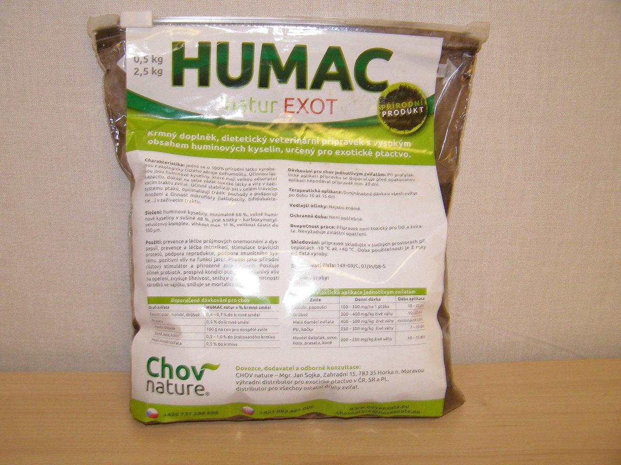 Chov nature Humac natur Exot 0,5 kg